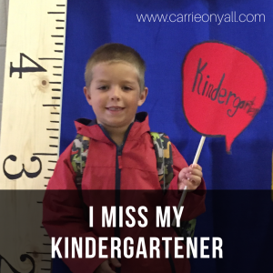 I Miss My Kindergartener