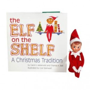 Carrie On Parenting: An Ill-Placed Elf on the Shelf Display